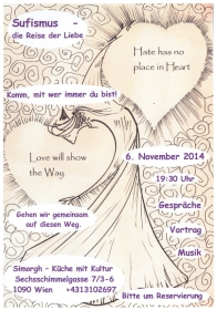Sufismus im Simorgh am 6.11.14